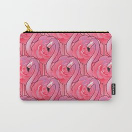 Cute floral flamingo Carry-All Pouch