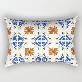 Talavera Floral Tiles Pattern Rectangular Pillow