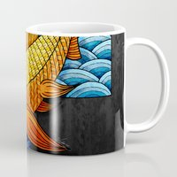 mandie manzano Mugs featuring Little red fish by Diogo Verissimo
