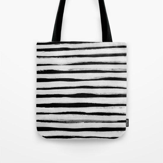 Black and White Stripes II Tote Bag