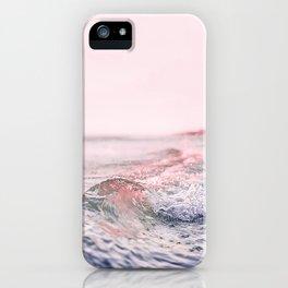 Ocean, Surf, Pink, Modern Wall Art iPhone Case