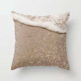 Sparkling Diamond Beach Throw Pillow