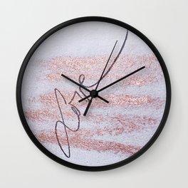 Rose Gold Love Wall Clock