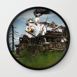 Smokey Mountain Railway Steam Locomotive Wall Clock