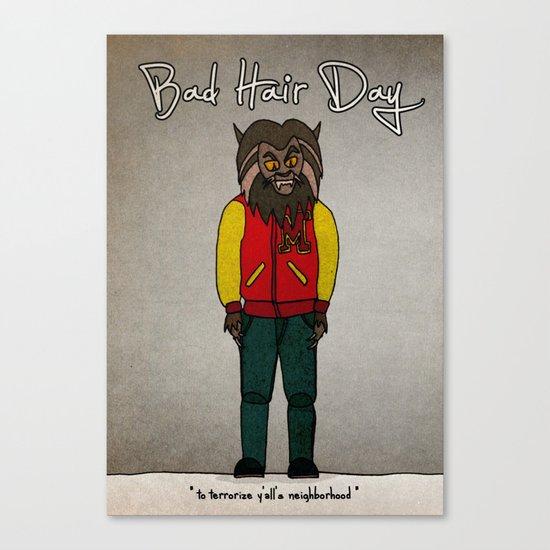 bad hair day no:5 / Thriller Canvas Print