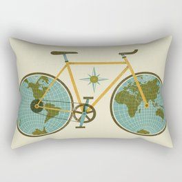 Ride For The World Rectangular Pillow
