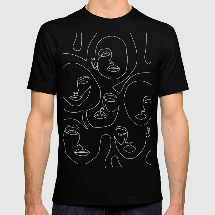 Faces in Dark T-shirt