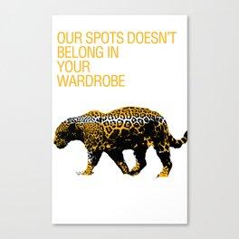 Leopard Spots Canvas Print