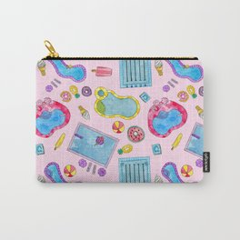 Summer Pool Pastels Carry-All Pouch