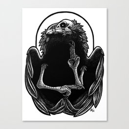 Wounded Raven God Canvas Print