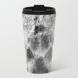 Paw Print in Snow Travel Mug
