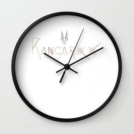 Kangaroo  Letterform Wall Clock