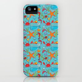 Cute Kids Ocean Sea Life Marine Pattern iPhone Case