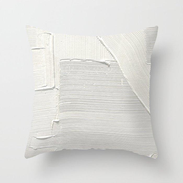 Relief [2]: an abstract, textured piece in white by Alyssa Hamilton Art Deko-Kissen