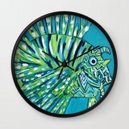 Lion Fish 1, a pretty predator Wall Clock