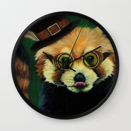 Steampunk Red Panda Wall Clock