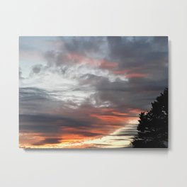 Fall Sunset Metal Print