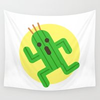 final fantasy Wall Tapestries featuring Final Fantasy - Cactuar by Versiris
