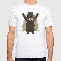 Bear Hug Mens Fitted Tee SMALL Ash Grey