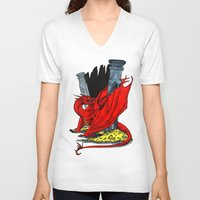 smaug V-neck T-shirts featuring Smaug the Stupendous by Lydia Joy Palmer
