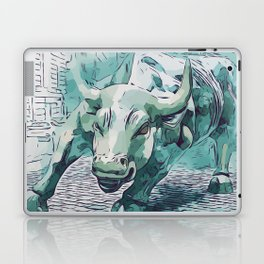 Bull Stock Exchange Bull Market Shares Shareholder Abstract Art Gift Laptop & iPad Skin
