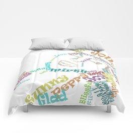 Happy woman III Comforters