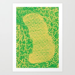 Life is a puzzle 19 Art Print
