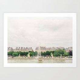 Summer at the Jardin de Tuileries, Paris, France Art Print