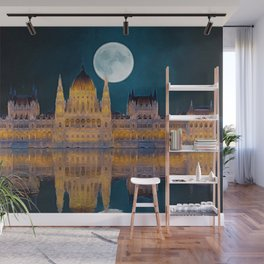 House of the Nation | Hungarian Parliament Building - Oil Painting Wall Mural