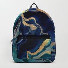 DRAMAQUEEN - GOLD INDIGO MARBLE Backpacks