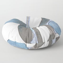 And You Also Abstract Watercolor Floor Pillow