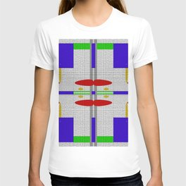 Shades of grey with different colors T-shirt