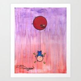 Balloon Abduction Art Print