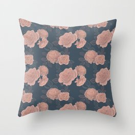 Dusty roses Throw Pillow