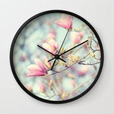 sweet magnolia Wall Clock