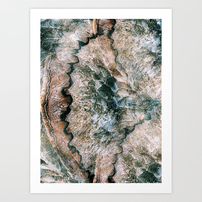 Agate Abstract Kunstdrucke