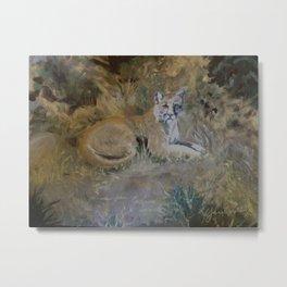 San Gabriels Mountain Lion Metal Print