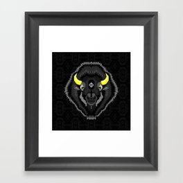 Geometric Bison Framed Art Print