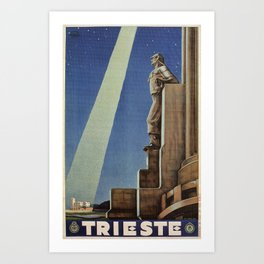 Trieste art deco Italian travel ad Art Print