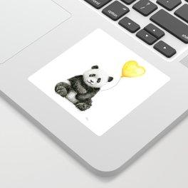 Panda with Yellow Balloon Baby Animal Watercolor Nursery Art Sticker