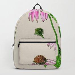 Botanical illustration of Echinacea Backpack