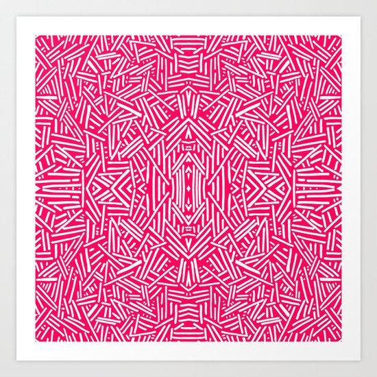 Radiate (Coral) Art Print