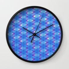 Woven Blue Wall Clock