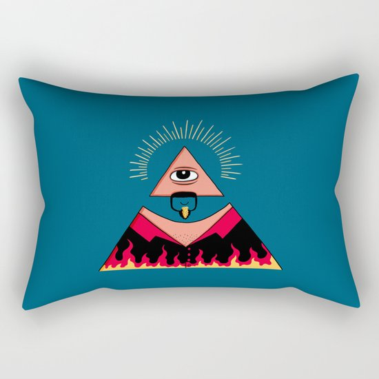 The All Seeing Eye Fieri  Rectangular Pillow