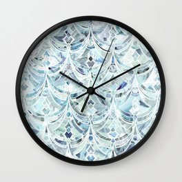 Ice and Diamonds Art Deco Pattern Wall Clock