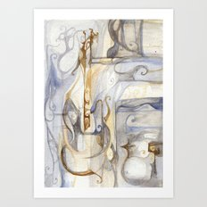 Smooth music Art Print