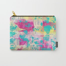 Abstract Mixed Media - Neon Carry-All Pouch