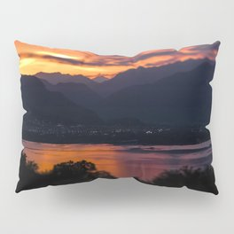 Locarno and Ascona at sunset Pillow Sham