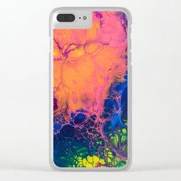 rainbow skyfall Clear iPhone Case