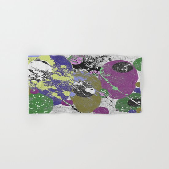 Gather Together - Abstract, pastel coloured, textured, artwork Hand & Bath Towel